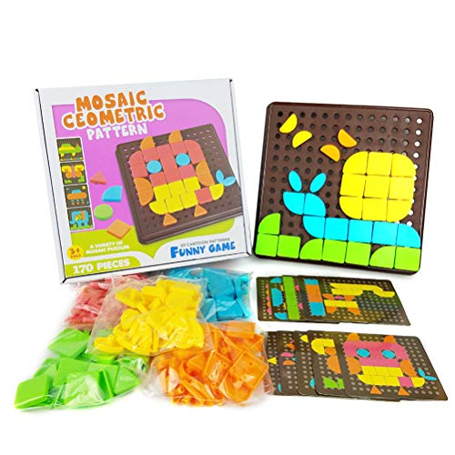 NOENNULL Jigsaw Puzzle Color Matching Mosaic Pegboard Early Learning Button Art Toy DIY Educational Toys