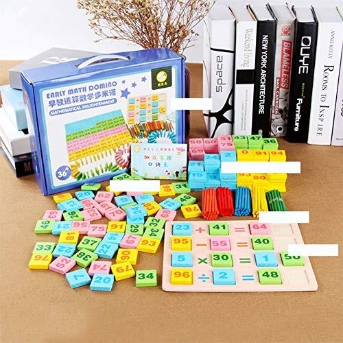 Baoer 200 PCS Set Children Wooden Toy Dominoes Building Blocks Educational Puzzle