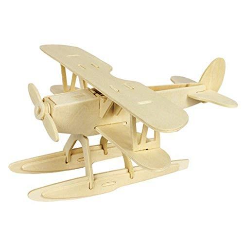 Baoer 3D DIY Assemble Wooden Transportation Building Blocks Puzzle Toy for Kids Jets 261405
