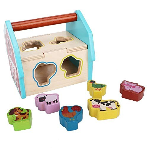 Wooden Toy for Kids Children Early Educational Building Block Number Cognition Shape Matching Dilem Animal Home Box