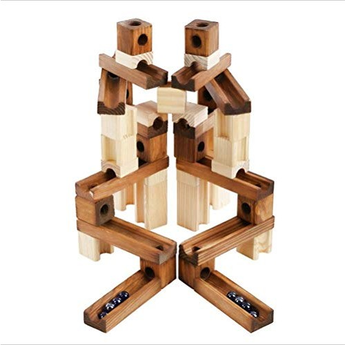 YxZQ Kids Toys Building Blocks Children 3-12 Years Old Wooden 60 Grain Pipe Puzzle Assembling Track Children's for Childrens