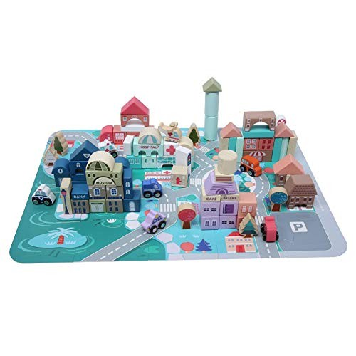 Neufday Building Block Toy115Pcs Child Kid Early Educational Wooden Interesting Intelligent Toy Building Toy