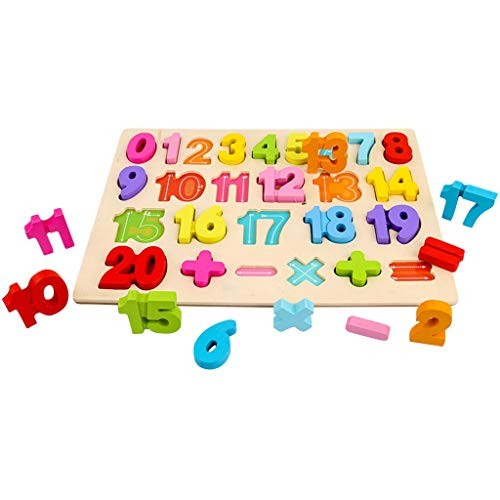 TIMEMEAM Puzzle for Baby Building Blocks Alphanumeric Board Enlightenment Scratch