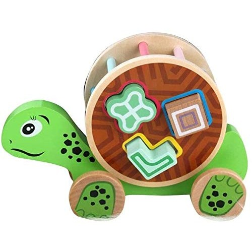 Children Wooden Pull Toy Cartoon Animal Building Blocks Matching Early Educational Toys Kids Birthday Gifts Color 4 Size 2251559cm