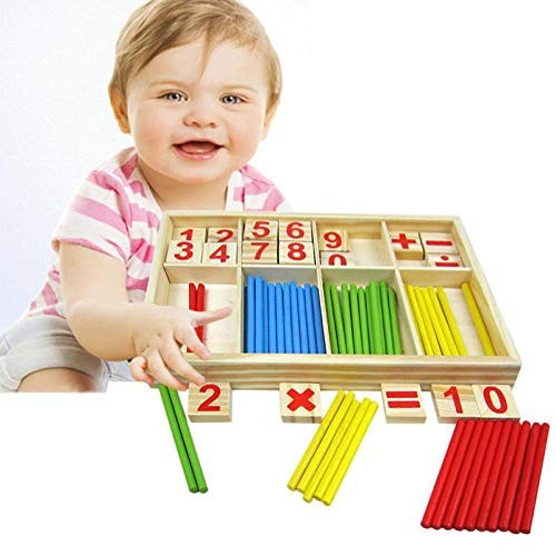 Baby Counting Sticks Toy Educational Wooden Block Building Intelligence Blocks Montessori Mathematical Children Gift WJ480