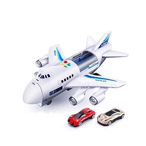 Reemonty Kids Toys Simulation Track Inertia Airplane Music Stroy Light Plane Diecasts & Toy