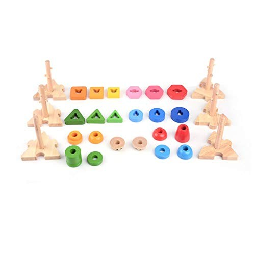 Fineday Education Toys for Kids Geometric Building Blocks Children's Educational Wooden Toy Gift and Hobbies HotSales As Show
