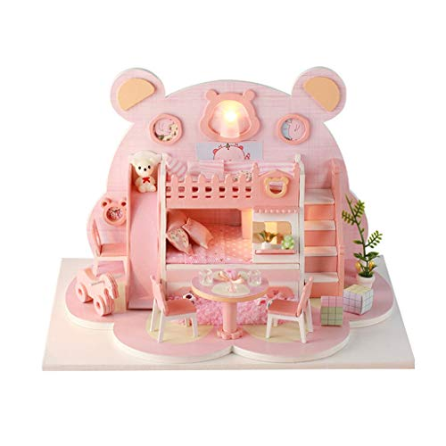 Fineday Education Toys for Kids 3D Wooden DIY Miniature Dollhouse Furniture Room Decorate Creative Crafts Gifts and Hobbies HotSales As Show