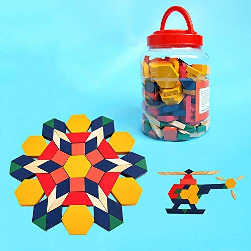 ocijf179 250Pcs Multicolor Wooden Puzzles Building Blocks Educational Toddlers Kids ToyPerfect Training Children's Intelligence Gifts