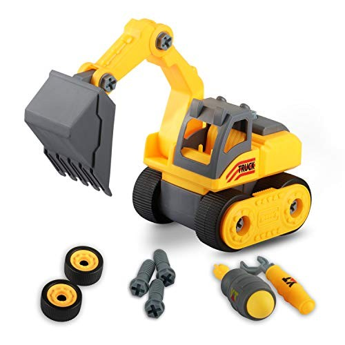 Toys for Boys Years Old Take Apart Construction Truck Little with Tools Suitable Indoor &Outdoor Stem Building Gift Toddlers Age 2-6 Excavator