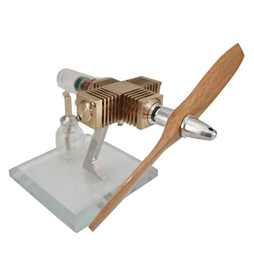 Yamix Stirling Mini Engine Model Toy- Wooden Propeller Aircraft Head Shape