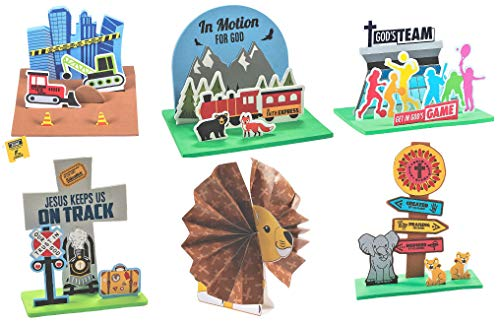 VBS Vacation Bible School 3D Stand-Up Craft Kits Set – Children's Arts & Crafts Party Favors Activities for Classroom Room Sunday Homeschooling Supplies Scrapbooking 2020 DIY Decor Decoration
