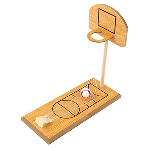 TOYANDONA Basketball Shooting Game Wooden Desktop Table Basketball Games Fun Sports Toy for Adults