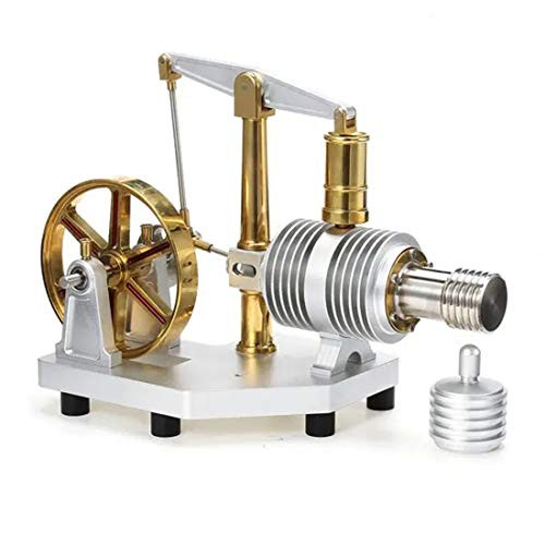 Yamix Tarot Full Metal Stirling Engine Model Steam Science Educational Toy for Adults Kids