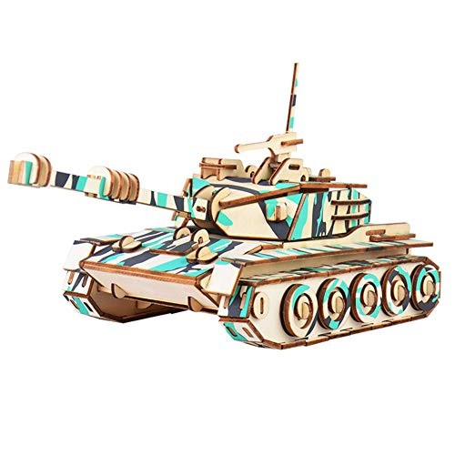 Finance Plan Hot New Wooden 3D Tank Building Blocks Kids DIY Craft Educational Puzzle Toy Home Decor