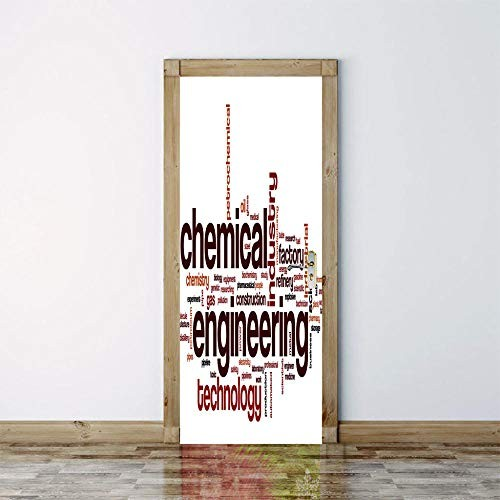 3D Door Sticker Chemical Engineering DIY Mural PVC Stickers Removable Wall Murals for Home Decoration Decal 77x200cm