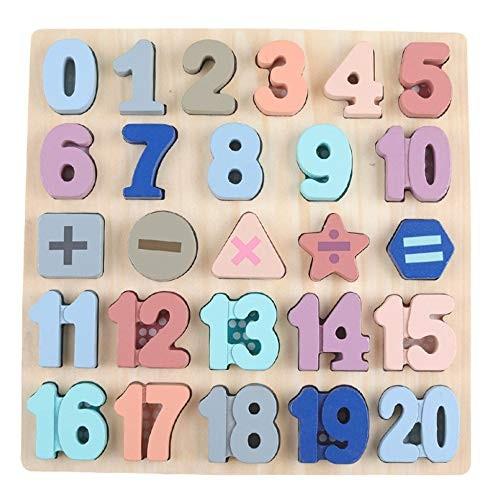 RTETF Digital Alphabet Hand Grab Board Puzzle Enlightenment Building Blocks Children and Wooden Toys5