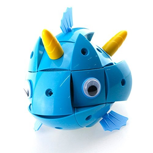 IKevan_ Variety Magnetic Wisdom Ball Blue Fish Smart Egg 3D Puzzles Building Blocks Toy Parent-Child Interaction Game Shipping from USA