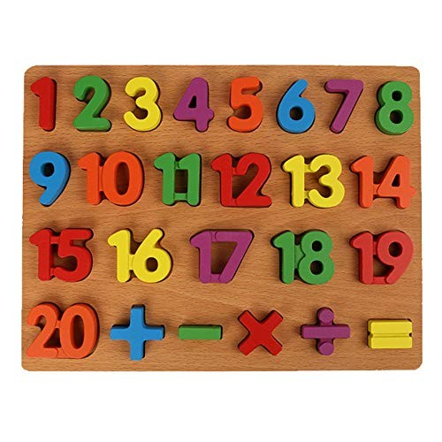 RTETF Wooden Puzzle Three-Dimensional Number English Alphabet Building Blocks Hand Grab Board Toy Children's Educational Toys1