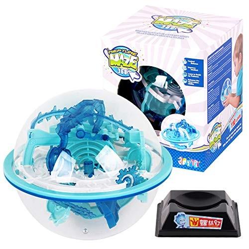 lEIsr00y 110 Step 3D Puzzle Ball Magic Labyrinth Sphere Globe Brain Tester Kids Toy