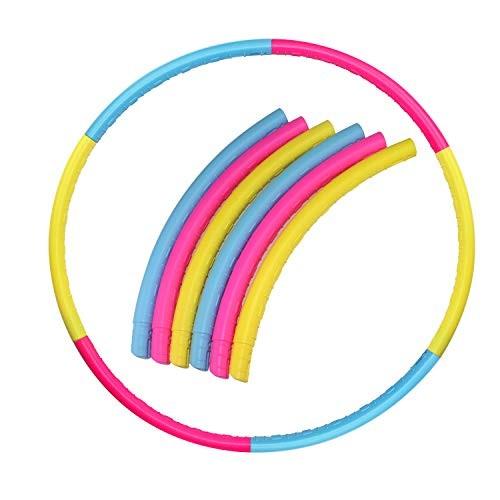 WeiMeet Kids Hoola Circle 27 Inches Detachable Plastic Hoola Circle Detachable Tubes for Hula