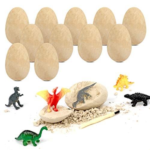 Coxeer Dino Egg Dig Kit DIY Funny Artificial Dinosaur Toy Excavation for Children