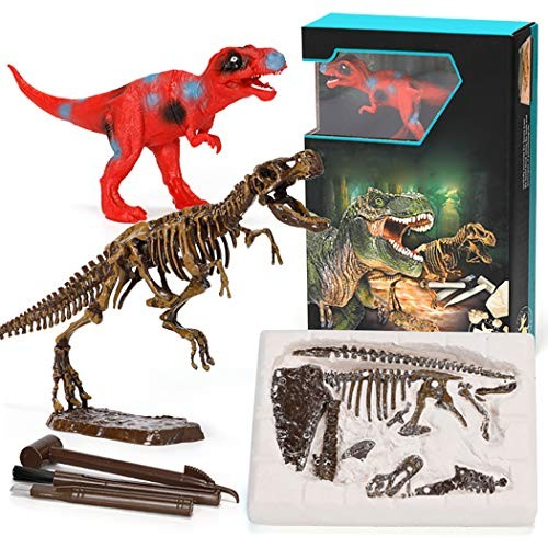 Coxeer Dinosaur Dig Kit DIY Retro Artificial Fossil Digging up Toy for Kids