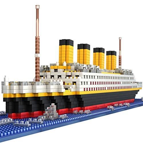 JOYTOM Titanic Ship Model Building Block Set 3D Puzzle Sets DIY Educational Toys Bricks Toy-with 1860Pcs Micro Mini Blocks Ideal Gift for Kids and Adults
