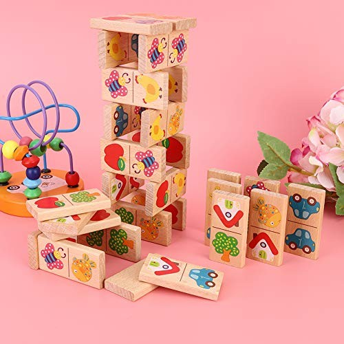 Building Block Set – Child Kid Cute Early Educational Wooden Interesting Intelligent Toy