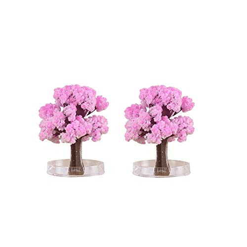 Klions Crystal Growing Garden Grow Two Pink Trees in Just 15-20 Hours with This Kit for Kids Science Learning Education Toy Gift Boys and Girls