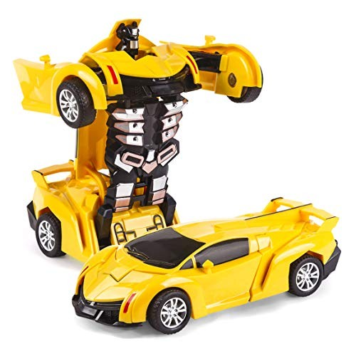 Bayetyak Vehicles Toys for Kids Age 2-4Deformation Car Inertia Car Robotic Toy for Boys