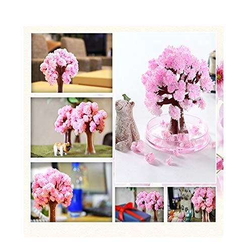 Klions Crystal Growing Home Desktop Garden Romantic Magic Paper Tree for Valentine's Day Science Learning Education Kit Gift Kids Boys and Girls