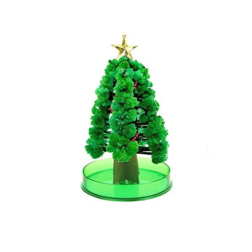 Klions Crystal Growing Home Desktop Green Garden Magic Paper Tree Decoration for Valentine's Day Science Learning Education Kit Gift Kids Boys and Girls