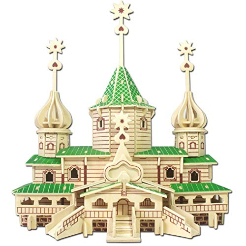 Kapmore 3D Wooden Puzzle DIY Craft Kits Trick Toy Decorative Building Kit Model