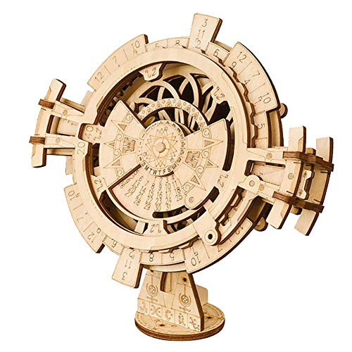 DAN 3D Wooden Puzzle Perpetual Calendar Set Assembly Constructor Mechanical Model Kits for Teens and Adults Craft
