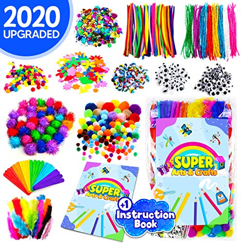 InnoRock Arts and Crafts Supplies for Kids – Assorted Craft Art Supply Kit Toddlers Age 4 5 6 7 8 9 Large All in One DIY Crafting Materials Set School Projects