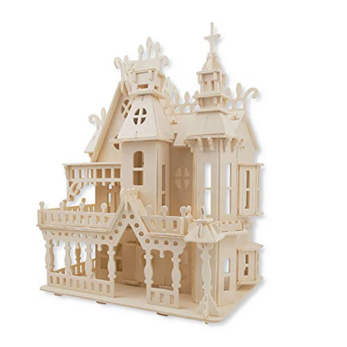 Kapmore 3D Wooden Puzzle DIY Craft Kits Kit Simulated Cottages Building Table Decoration