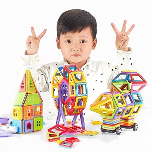 Mini Magnetic Building Block Toys STEM Educational- DIY Intelligence Learning Toy Construction Blocks Brain Training Set for Age Year Old Kids105 pcs