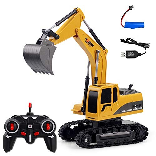 High Speed Racing Car 24G 1 24RC Remote-controlled Engineering Plastic Excavator Charging RC Remote Control Toys