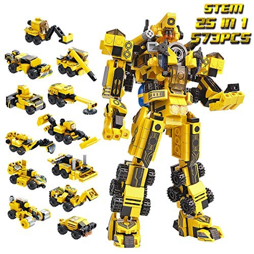 Building Toys STEM Robot Toy Block Set Suitable for 6 Years Old Boys or Above Compatible with Major International Brands 573PCS Assembly Instructions