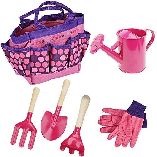 Freehawk Kids Gardening Tool Sets Toy Shovel Gardening Set Outdoor Gardening Toy with Wooden