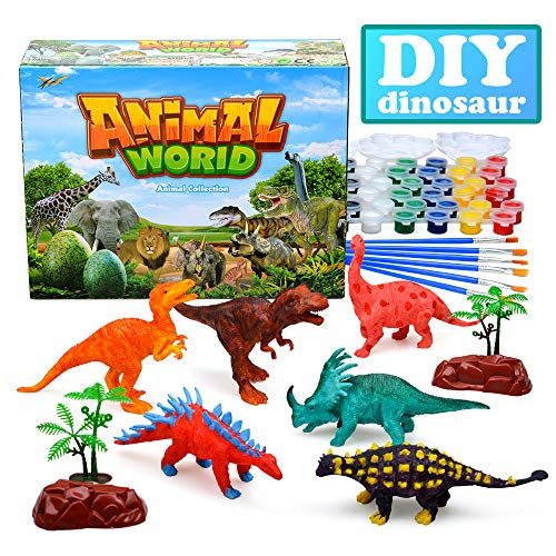 Painting Dinosaur Crafts for Boy KidsKids Paint Craft Kits Gift 3-12 Year Old Kids Arts and Toy Age 6 7 8 9 Children Birthday 10 11 12 Supplies