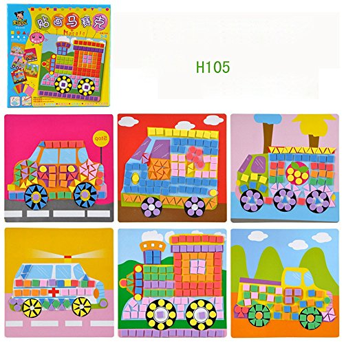 ZAU 2020 New Popular Fun Mosaic Kids Art & Craft Kit Childrens Play Activity Decoration Sticker Set Extra Large Puzzles 2 x 3 feet Long Jigsaw for KidsToddlersPreschool Age
