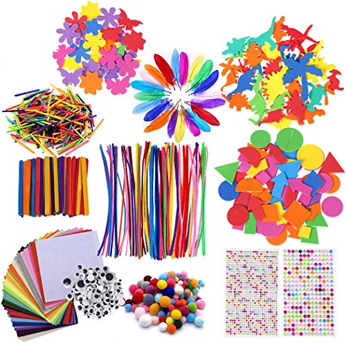 Kapmore Pipe Cleaners Crafts Set DIY Art Craft Kit for Kids Creative Funny Arts Supplies Accessories