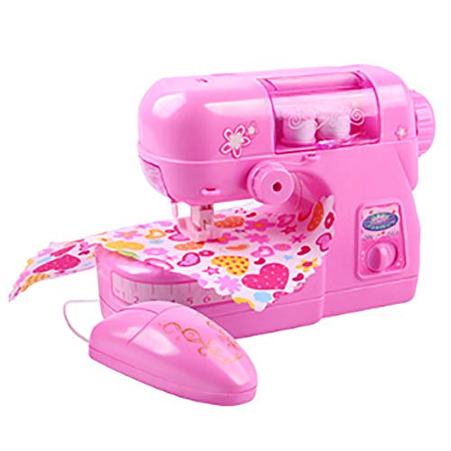 Children Sewing MachinePortable Electric Craft Kit Educational Interesting Toy for Beginners Kids Girls