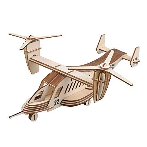 Hand Assembled Wooden 3D Puzzle ToyMKLEKYY Airplane Model PuzzleCreative DecorationHandcraft PuzzleKids Miniature Gift ToyDIY Craft KitFunny Family ToyBest Birthday Khaki