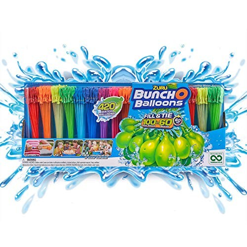 Bunch O Balloons – 420 Rapid-Fill Water Balloons (12 Pack) Multi-Colored