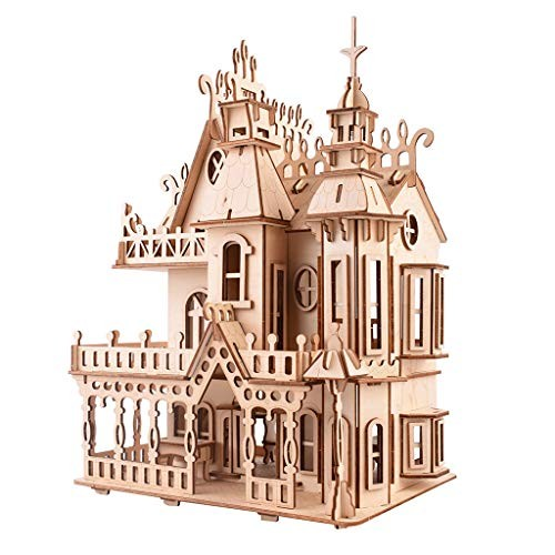 LODDD Adults Childs Puzzle Toy 3D Three-dimensional Building Hand Made DIY Wooden Furniture Craft Blocks Miniature Box Creative Gift