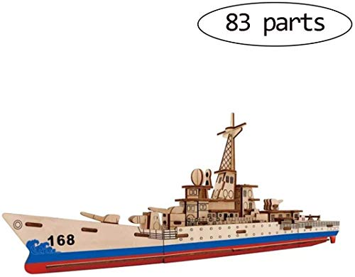 Warmshine DIY Model Craft Kits Assembling Wooden Toys 6D Ship Puzzle for Adults & Teens-Missile Chasing Arrows
