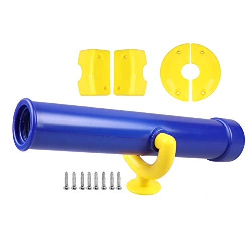 Kids Telescope Accessories Plastic Toy Swing Set Single-Eye Spyglass Science Learning Game Props Birthday Gift for Children Toddlers Blue